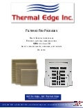 Thermal Edge Inc Filtered Fan Packages Brochure 2013