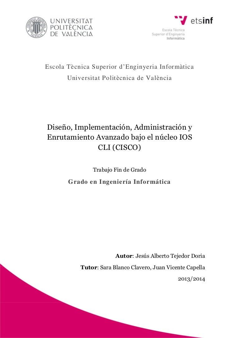 Tejedor diseño, implementación, administración y enrutamiento avanz…