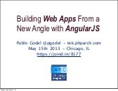 Tek 2013 - Building Web Apps from a New Angle with AngularJS