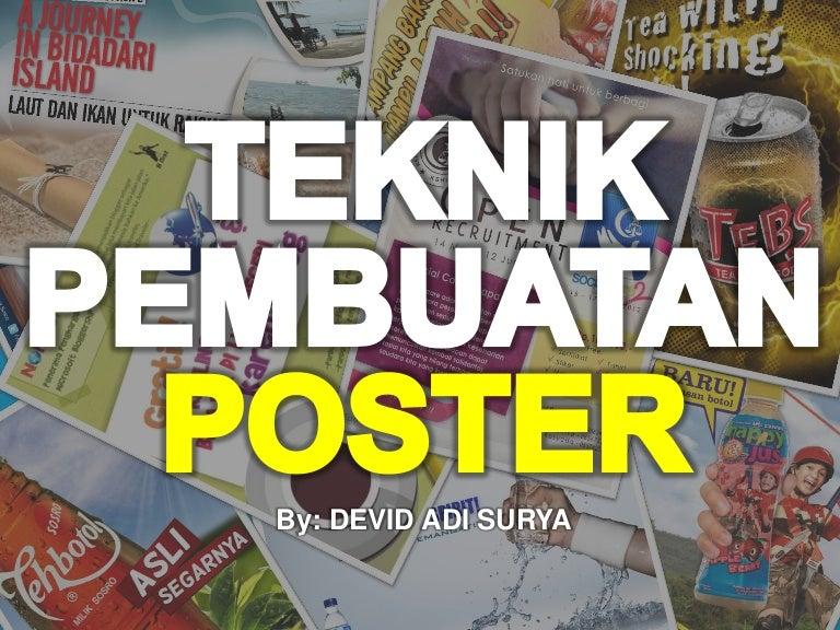 Teknik Membuat Poster
