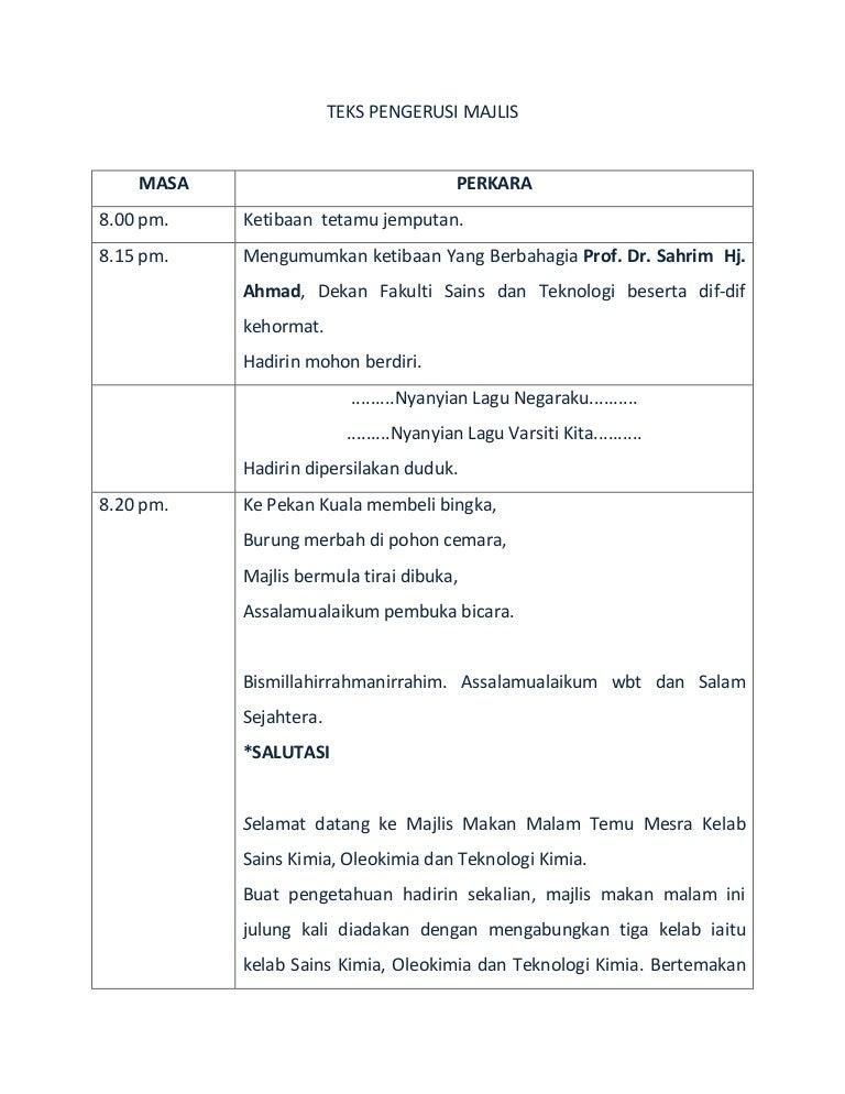 Teks Ucapan Pengacara Majlis Anugerah Mosik Express