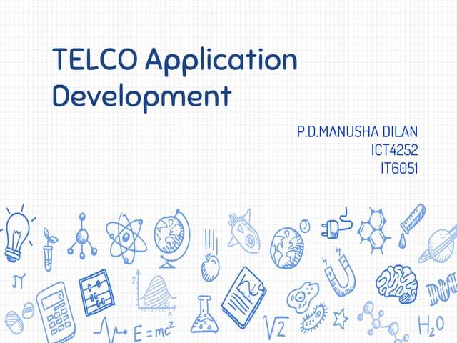 Telco app development