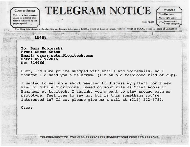 Telegram Notice Sample