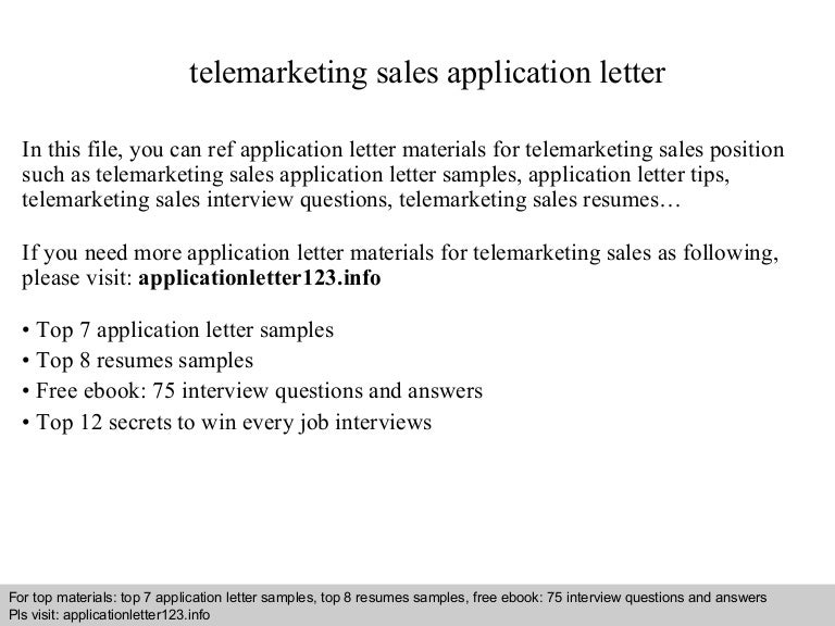 Resume for telemarketer – Telemarketing Job Description