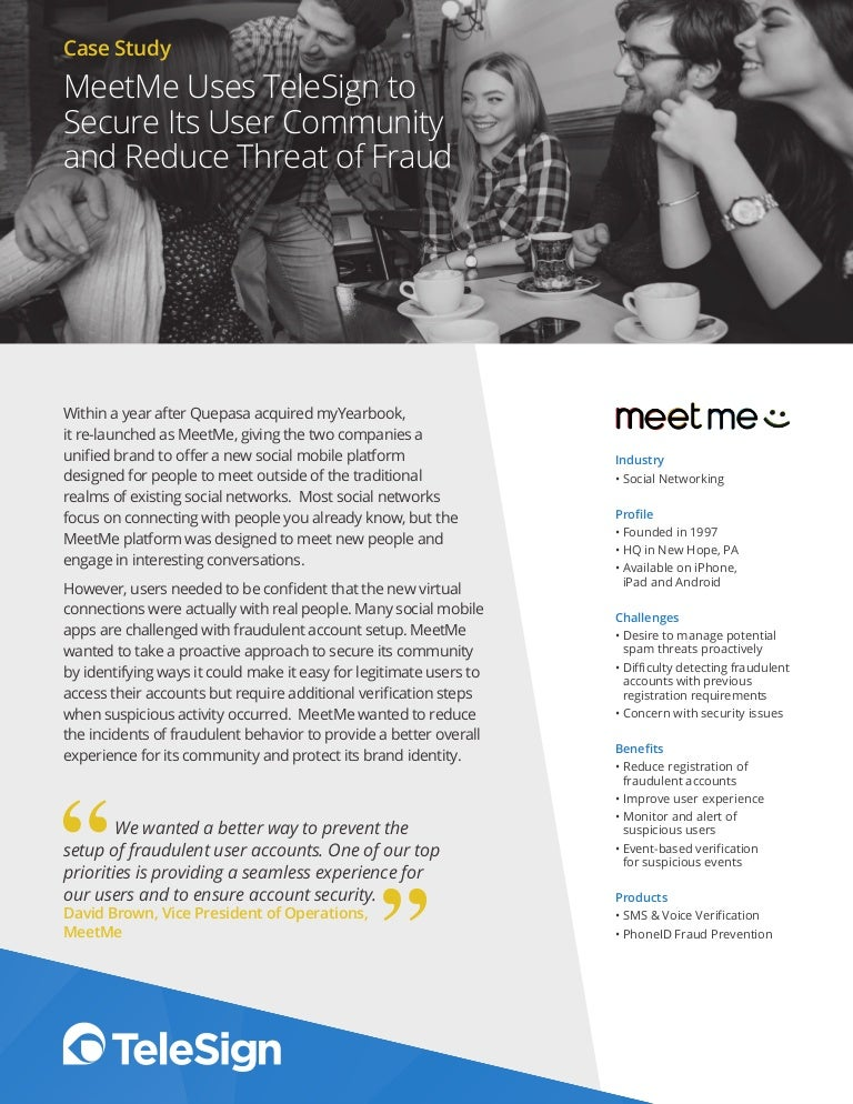 MeetMe Uses TeleSign to Secure Its User Community and Reduce
