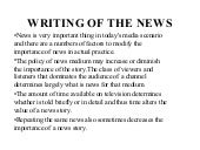 Tv news report script example