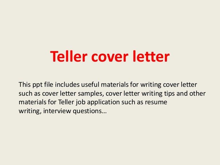 Teller cover letter