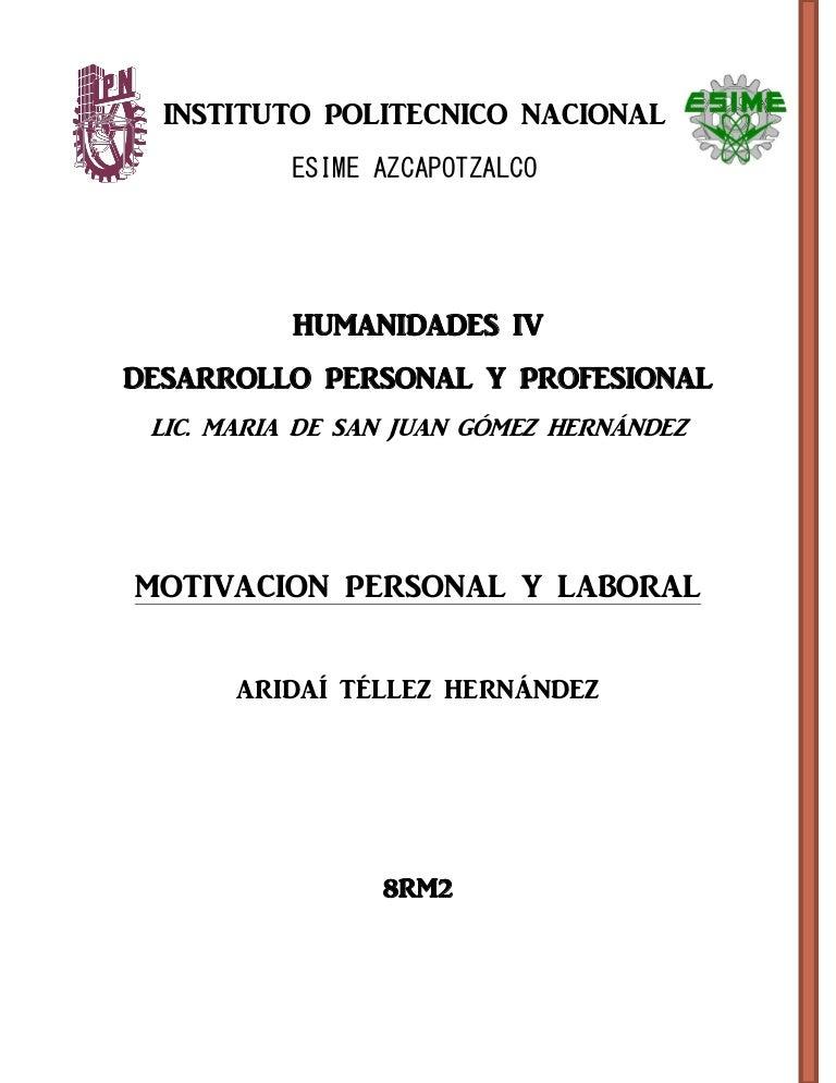 Motivacion Personal Y Laboral