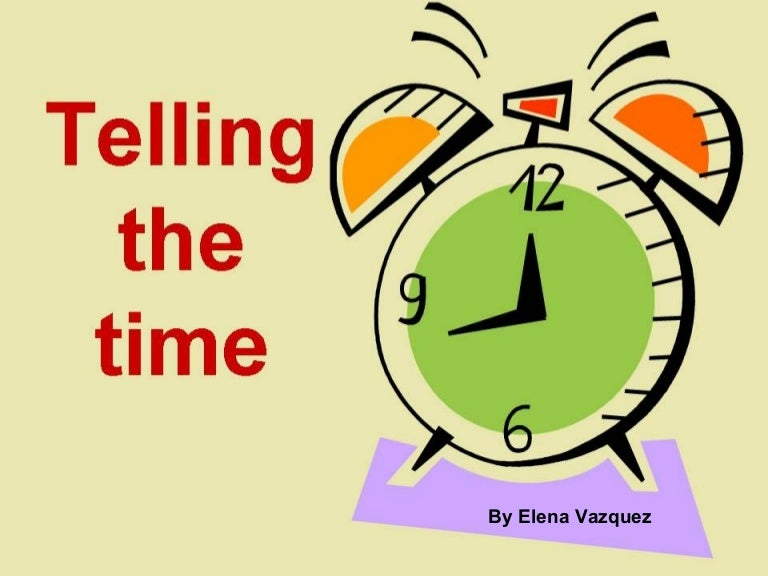 telling the time ppt