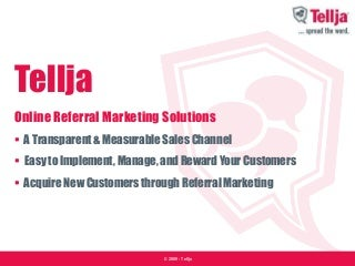 Tellja Online Referral Marketing