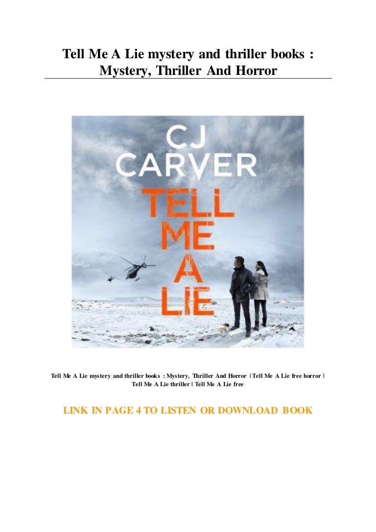Tell Me A Lie Mystery And Thriller Books Mystery Thriller And Ho