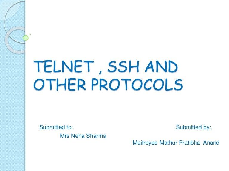 Telnet presentation
