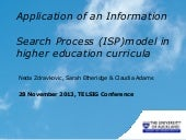 Academic literacy integration into higher education curricula: Application of an Information Search Process (ISP) model