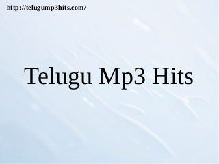 Telugump3hits is one of the best platform to search mp3 songs telusa telusa