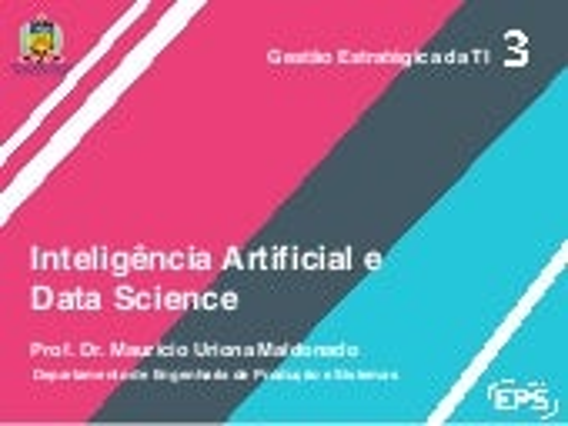 Inteligência Artificial e Data Science