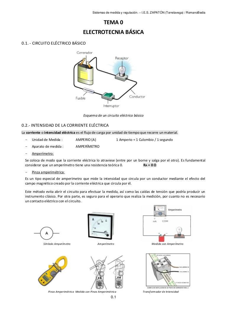 Circuito Basico : Tema 0 electrotecnia básica