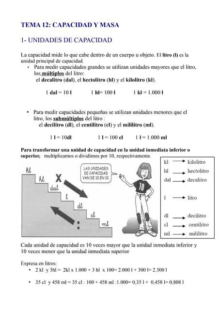 Tema 12 capacidad y masa