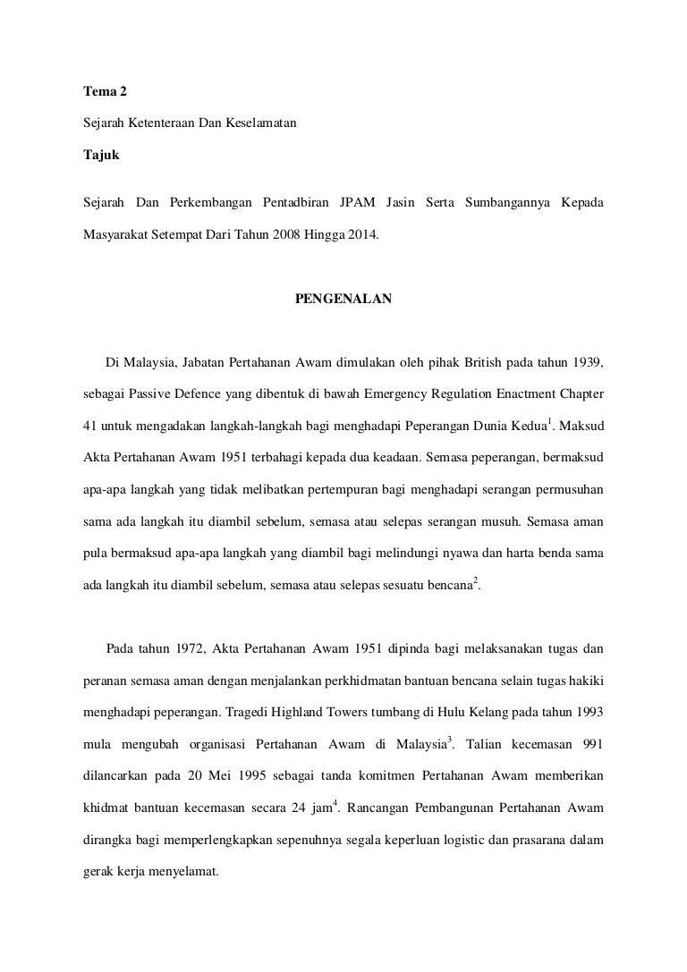 Contoh Kerja Kursus Sejarah Tingkatan 6 Penggal 2 2015 Stpm Jpam