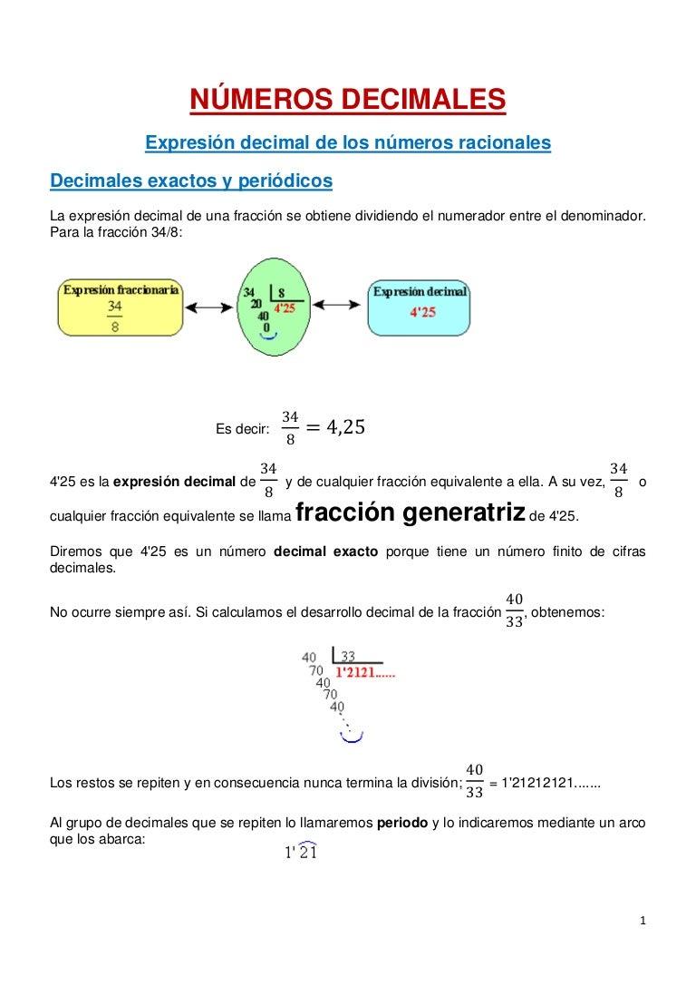 Tema 2 teoria decimales periodicos, aprox y errores
