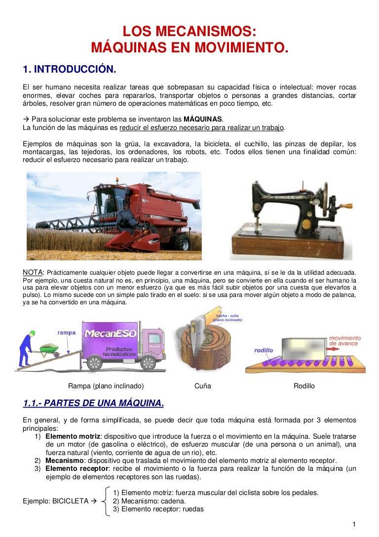 Tema 4. máquinas y mecanismos (3º eso)