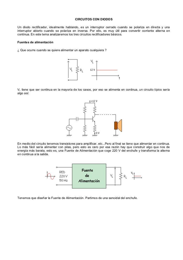 Circuito Recortador : Circuitos con diodos