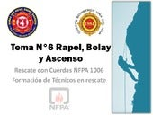 Tema N°6 Rapel, Belay y Ascenso