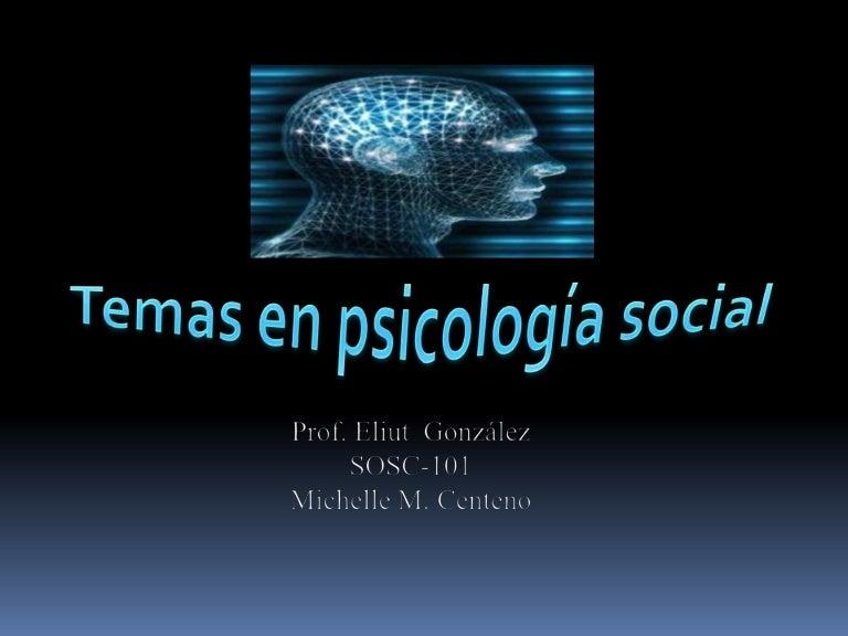 Temas En Psicologia Social