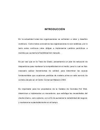 Tema y desarrollo del temario de tesis