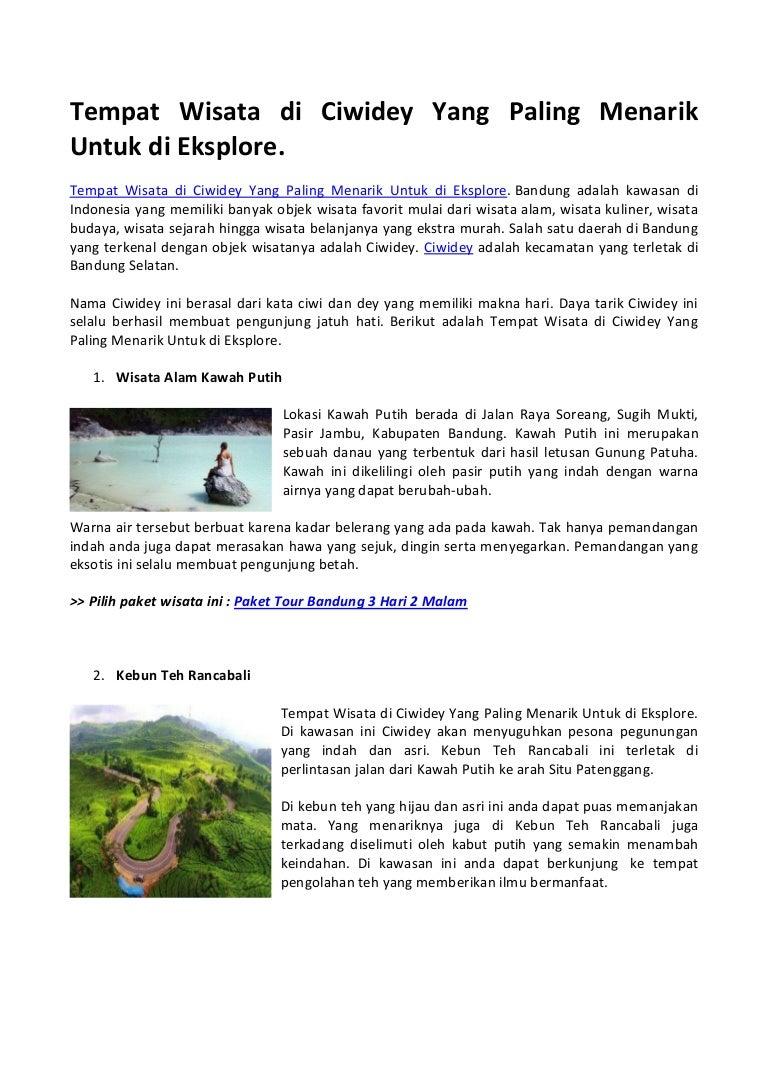 Tempat Wisata Di Ciwidey Yang Paling Menarik Untuk Di Eksplore
