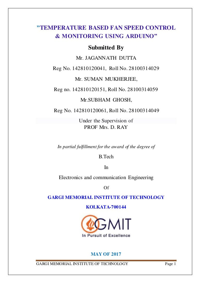 Temperature Based Fan Speed Control Amp Monitoring Using Arduino With Thermistor And Voltage Divider Circuit Programming The