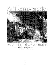 "Peça ""A Tempestade"", de William Shakespeare"