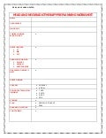 HEAD AND NECK CANCER  RADIOTHERAPY PREPLANNING WORKSHEET
