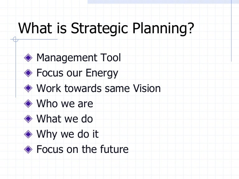 Template 4-Strategic Planning Outline