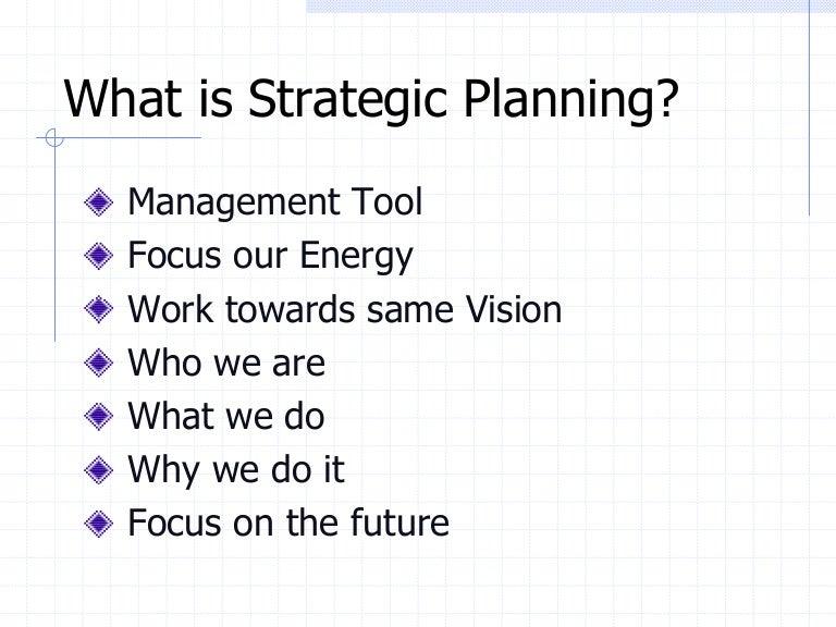 Template 4 Strategic Planning Outline