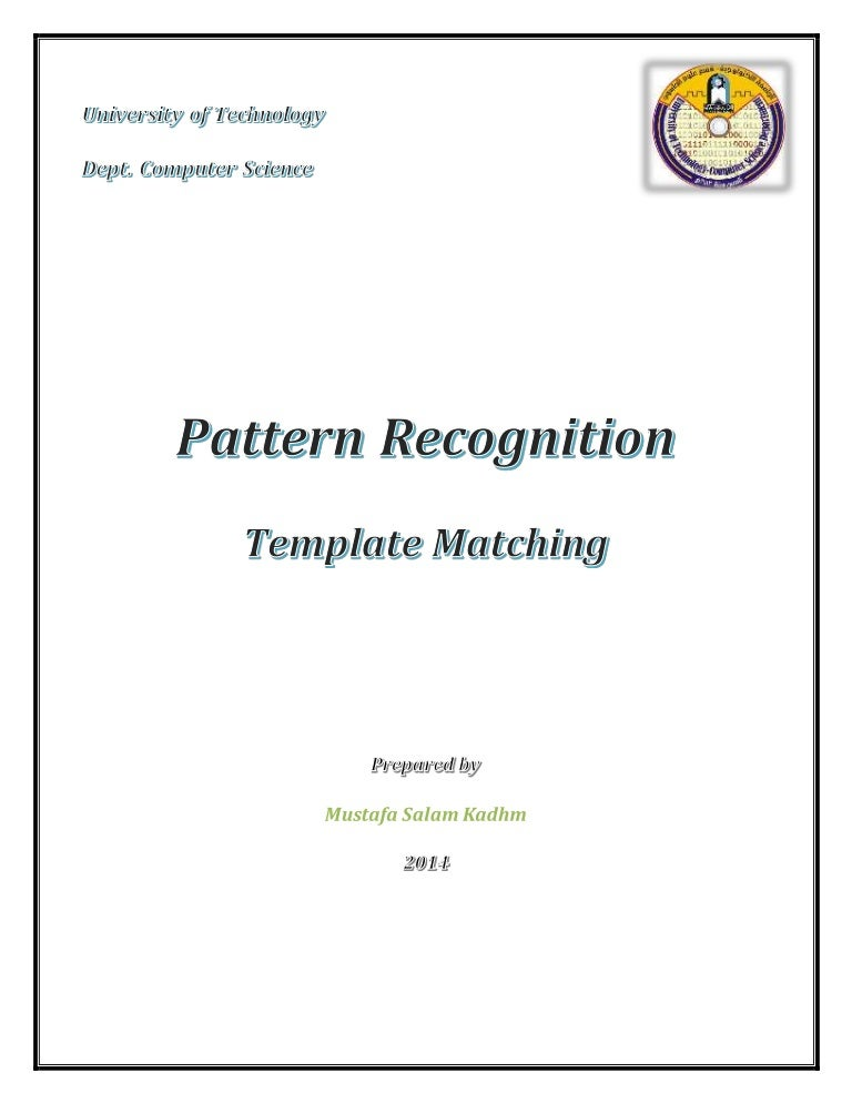 Template Matching Pattern Recognition