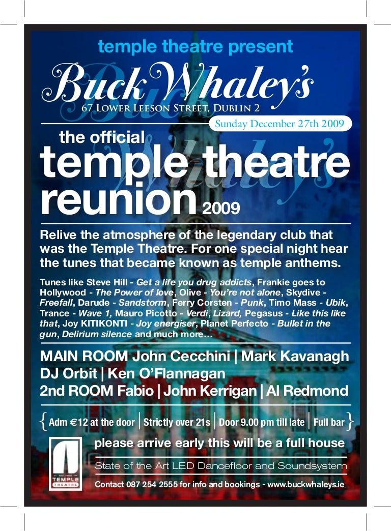 Temple Theatre Reunion
