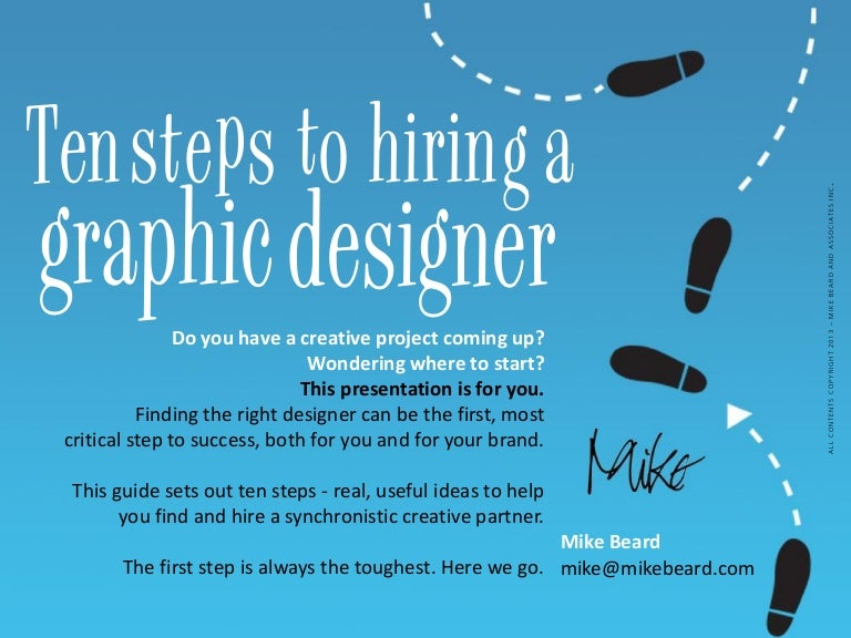 & Ten Steps to Hiring a Graphic Designer and Brand Marketer