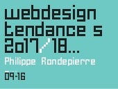 Tendances Web Design 2017/2018