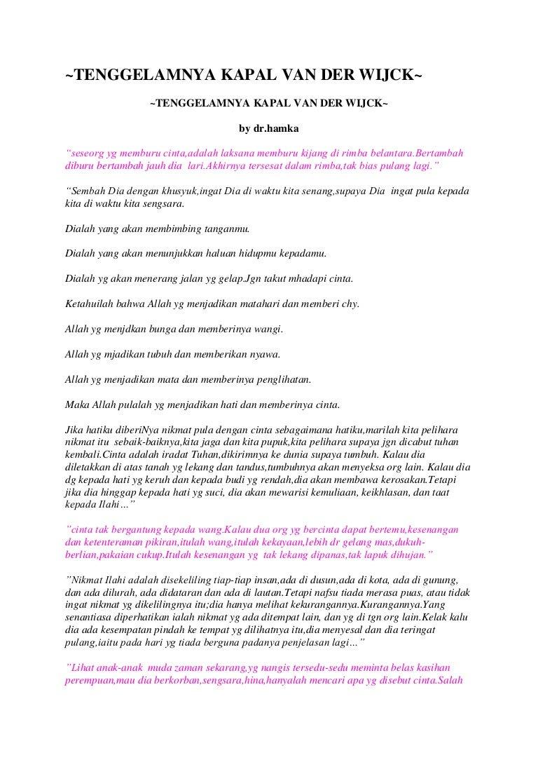 Tenggelamnya Kapal Van Der Wijck Novel By Hamka Tenggelamnyakapalvanderwijck 120920013415 Phpapp02 Thumbnail 4cb1348104893