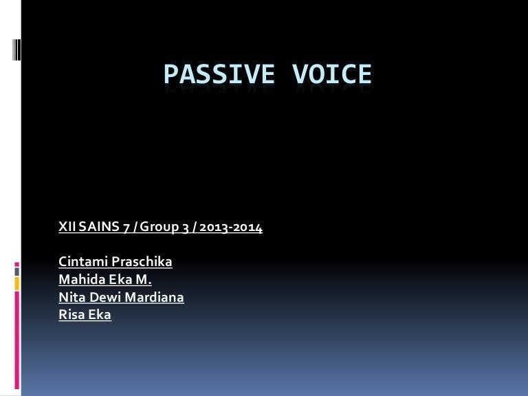 Passive Voice Report Teks