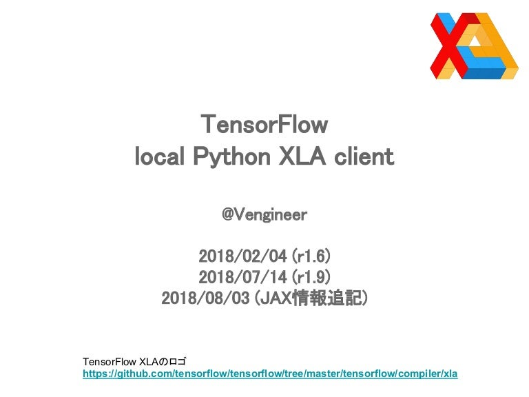 TensorFlow local Python XLA client