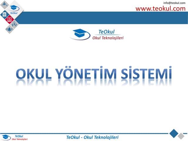 TeOkul Okul Teknolojileri - Okul Yönetim Sistemi