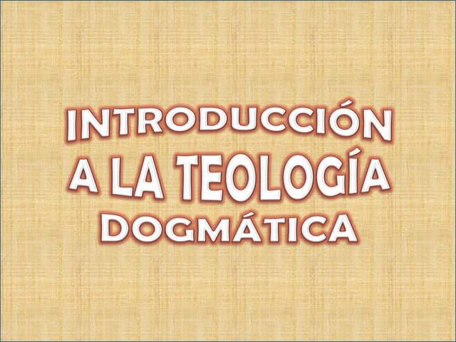 Teología Dogmática