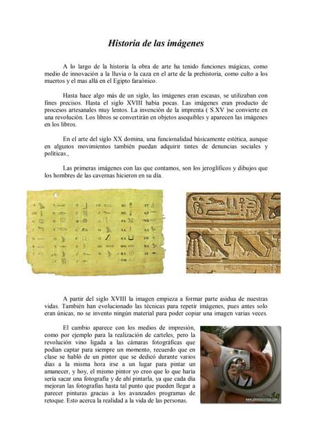 Teoría.historia de las imágenes