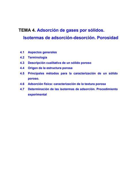 Tema 7. Fenomenos de Superficie (Adsorción)
