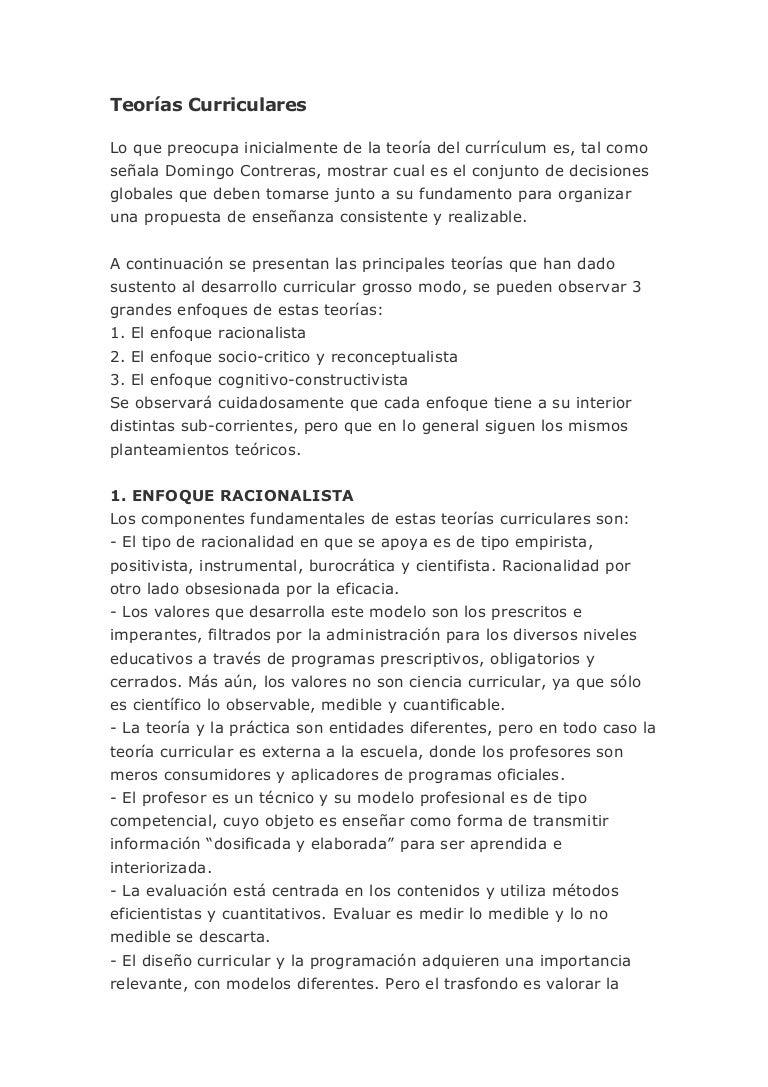 Teorias curriculares importante_apuntes