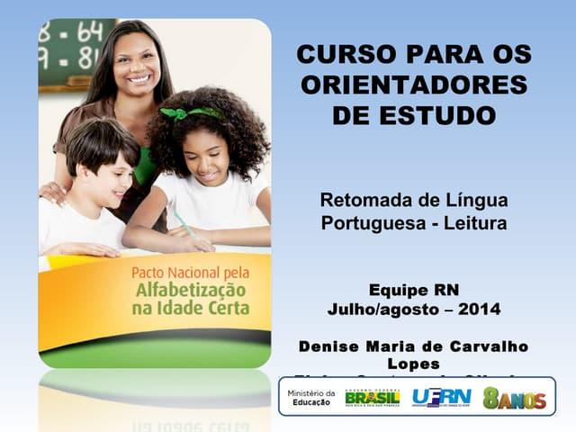Terca tarde - retomada língua portuguesa leitura