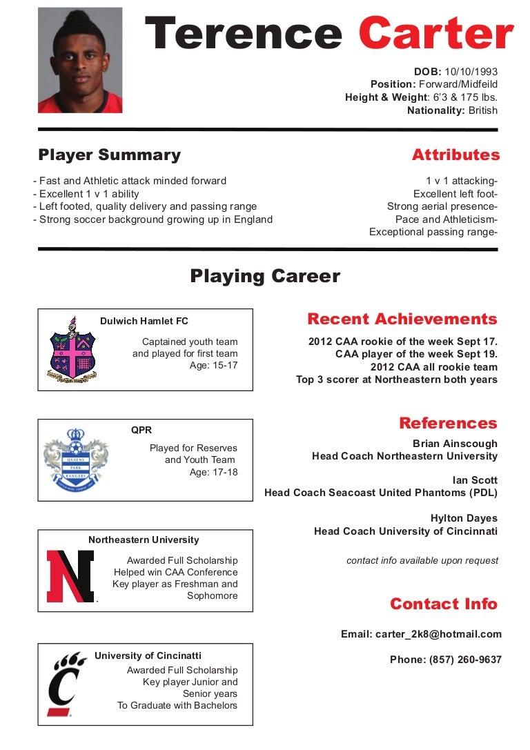 Soccer CV/ resume
