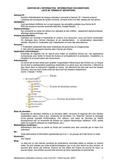 020511 Mediaquitaine Termes et  definitions