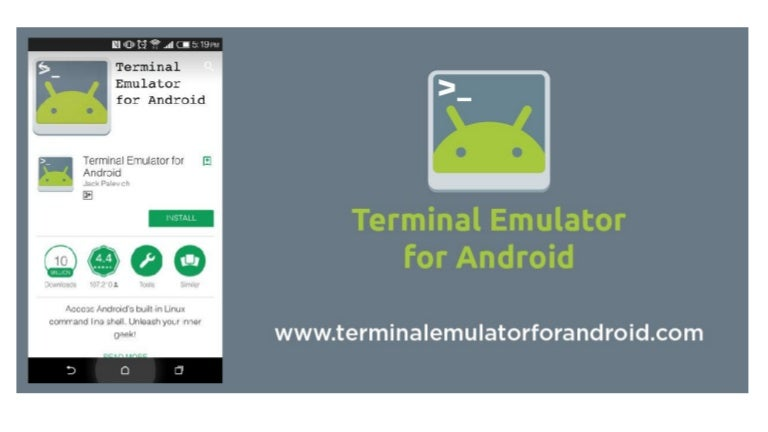 Terminal emulator for android information and download link